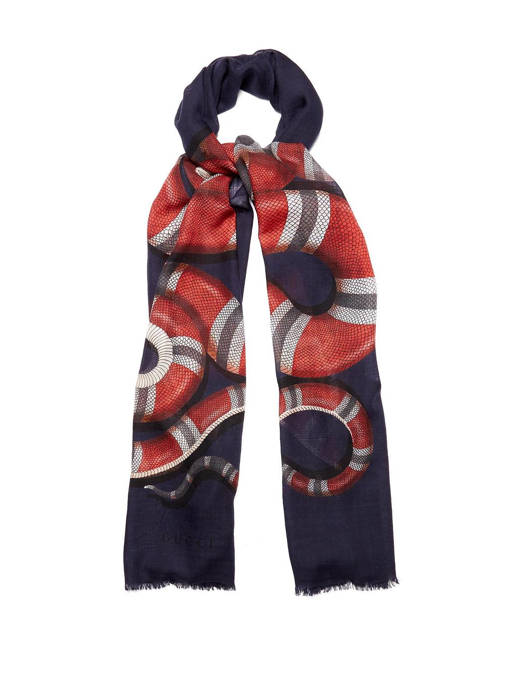 Gucci Kingsnake scarf
