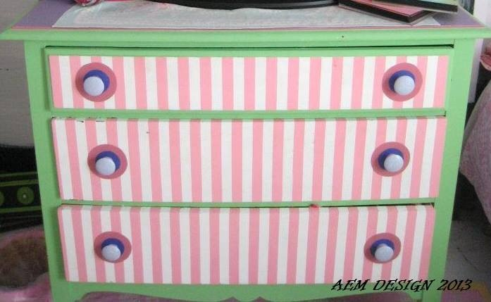 Hand Painted Antique Dresser