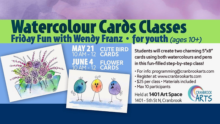 Watercolour Cards - Cute Little Birds