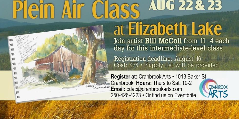 Plein Air at Elizbeth Lake with Bill McColl