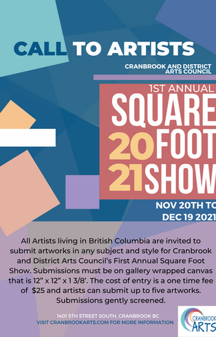 Call to Artists: Square foot show 2021.png