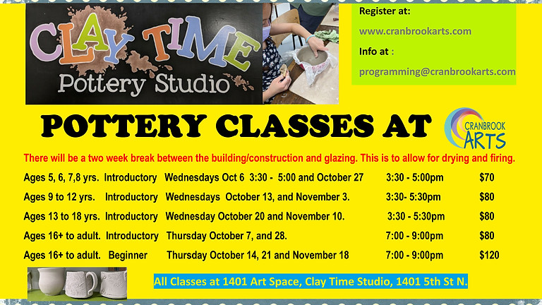 Introductory Pottery for 5-8yrs