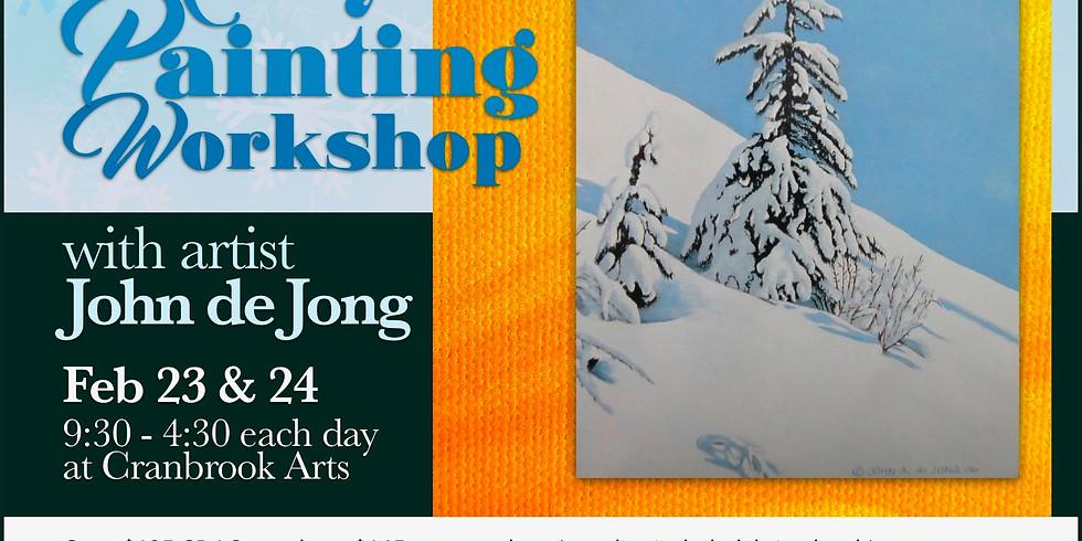 Acrylic Painting with John de Jong