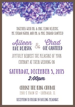 Canfield Wedding Invite