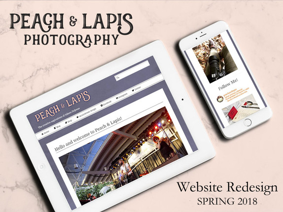 Peach & Lapis Website Redesign