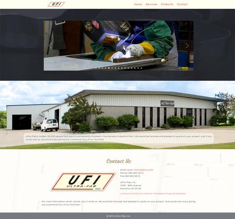 2018 Ultra Fab Website Redesign