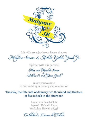 2013 Wedding Invitation