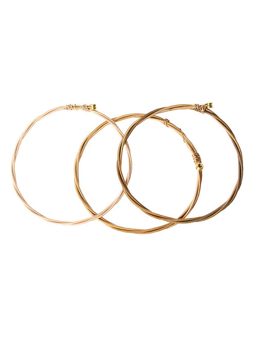 Guitar String Bangles Set of 3