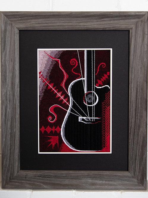 Finished Guitar Needlepoint