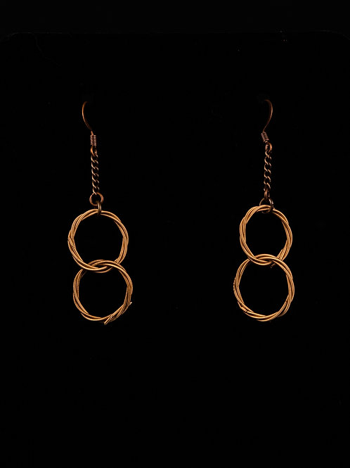 Love Knot Earrings -Interlocked