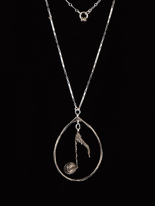 Teardrop Necklace -Music Note
