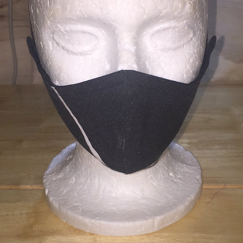 Black with White Abstract Face Mask