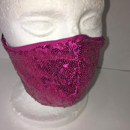 Magenta Sequins Mask