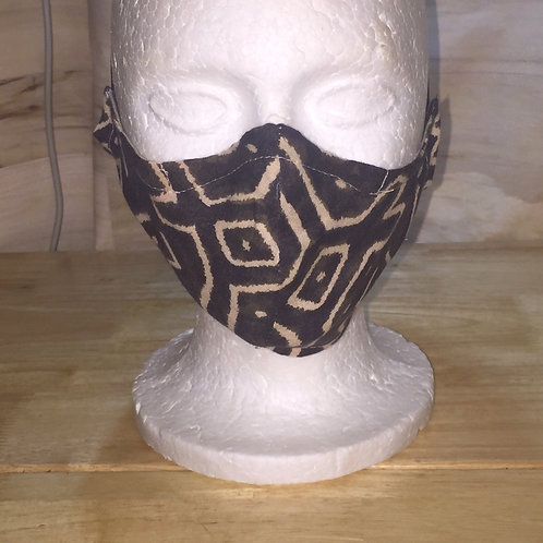 African Print Cotton Face Mask - Mudcloth 2