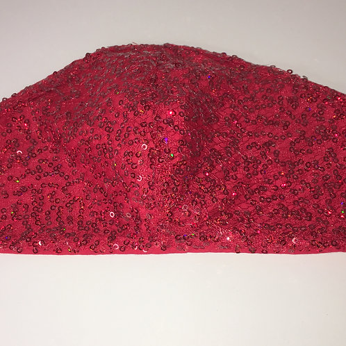 Red Sequins Face Mask