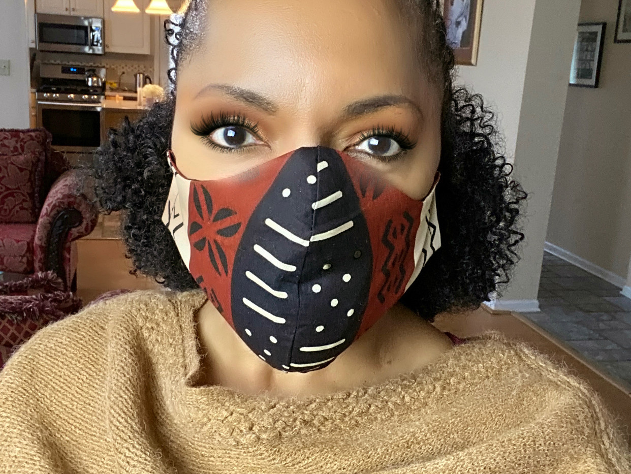 African Cotton Mudcloth mask