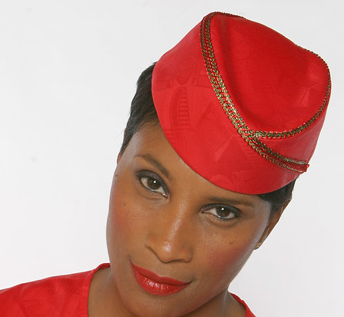 African Stewardess Pillbox Hats