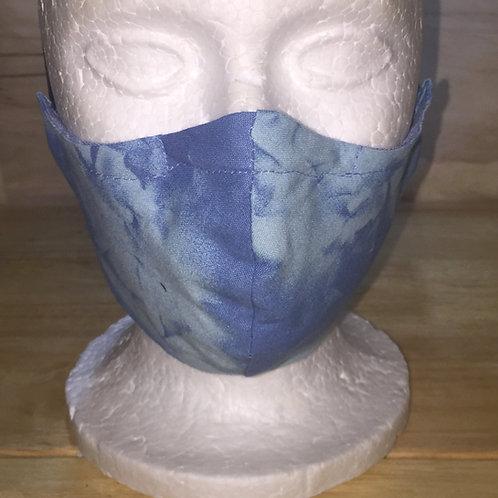 Blue Tie-dye  Face Mask
