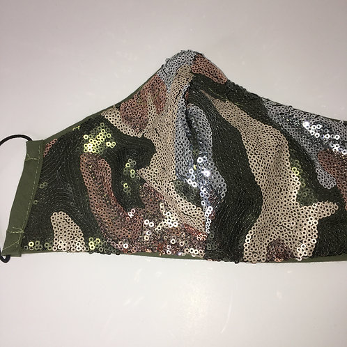 Sequins Camouflage Face Mask