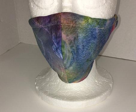 Blue Multi Print Face Mask