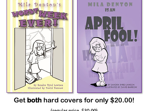 Mila Denton series, two hard cover books