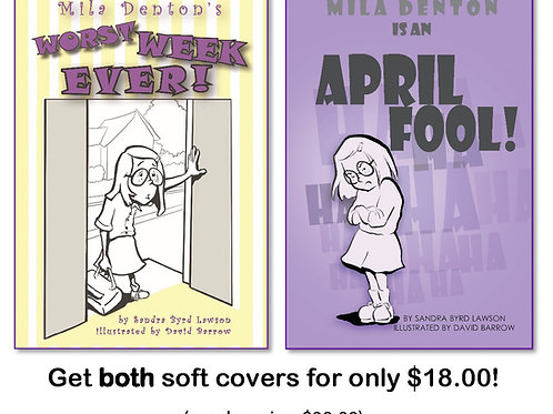 Mila Denton series, two soft cover books