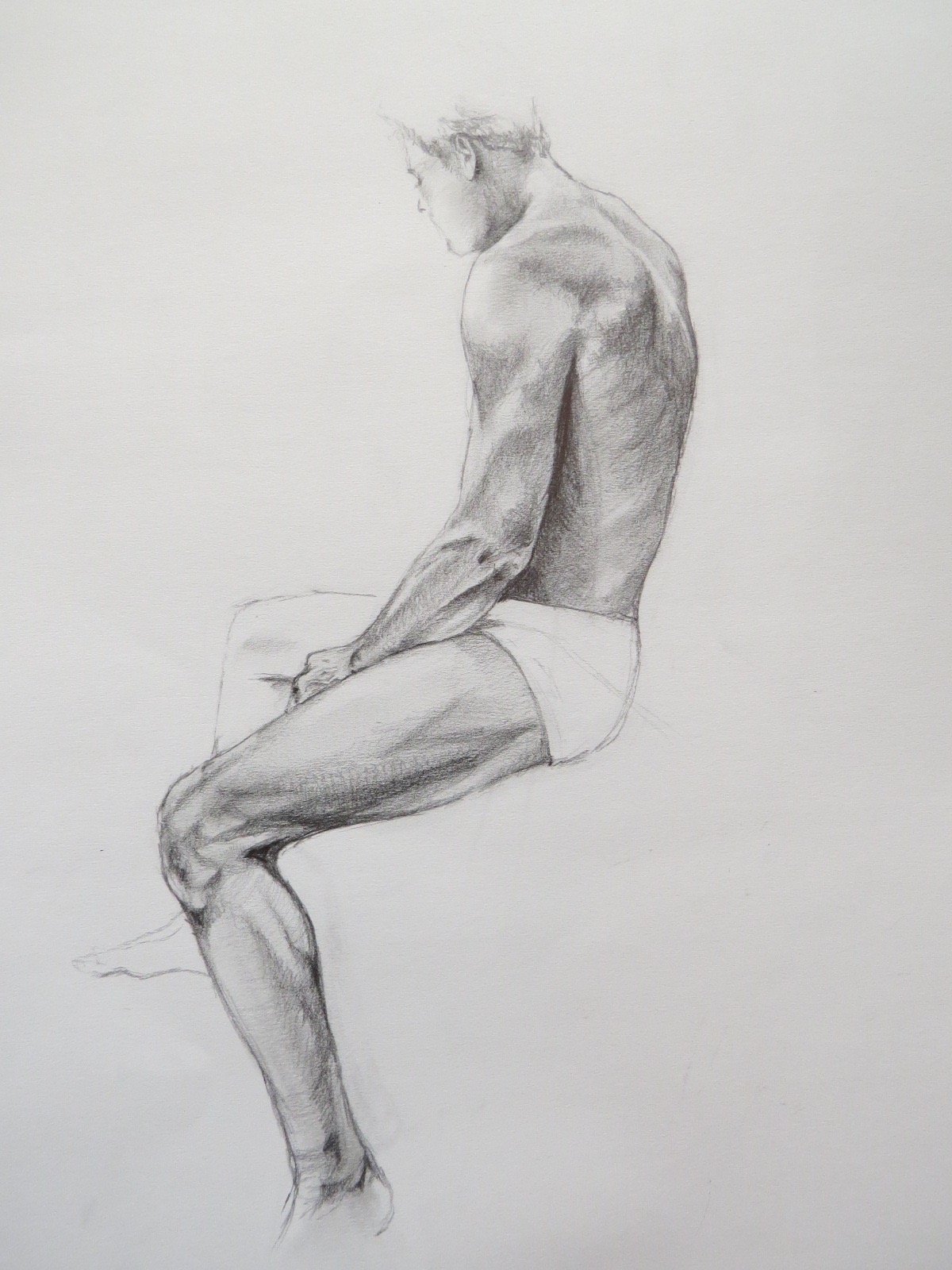 """""""7"""" Seated male study"""