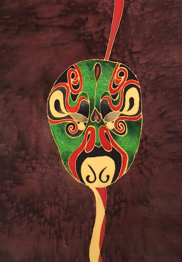 Green opera mask