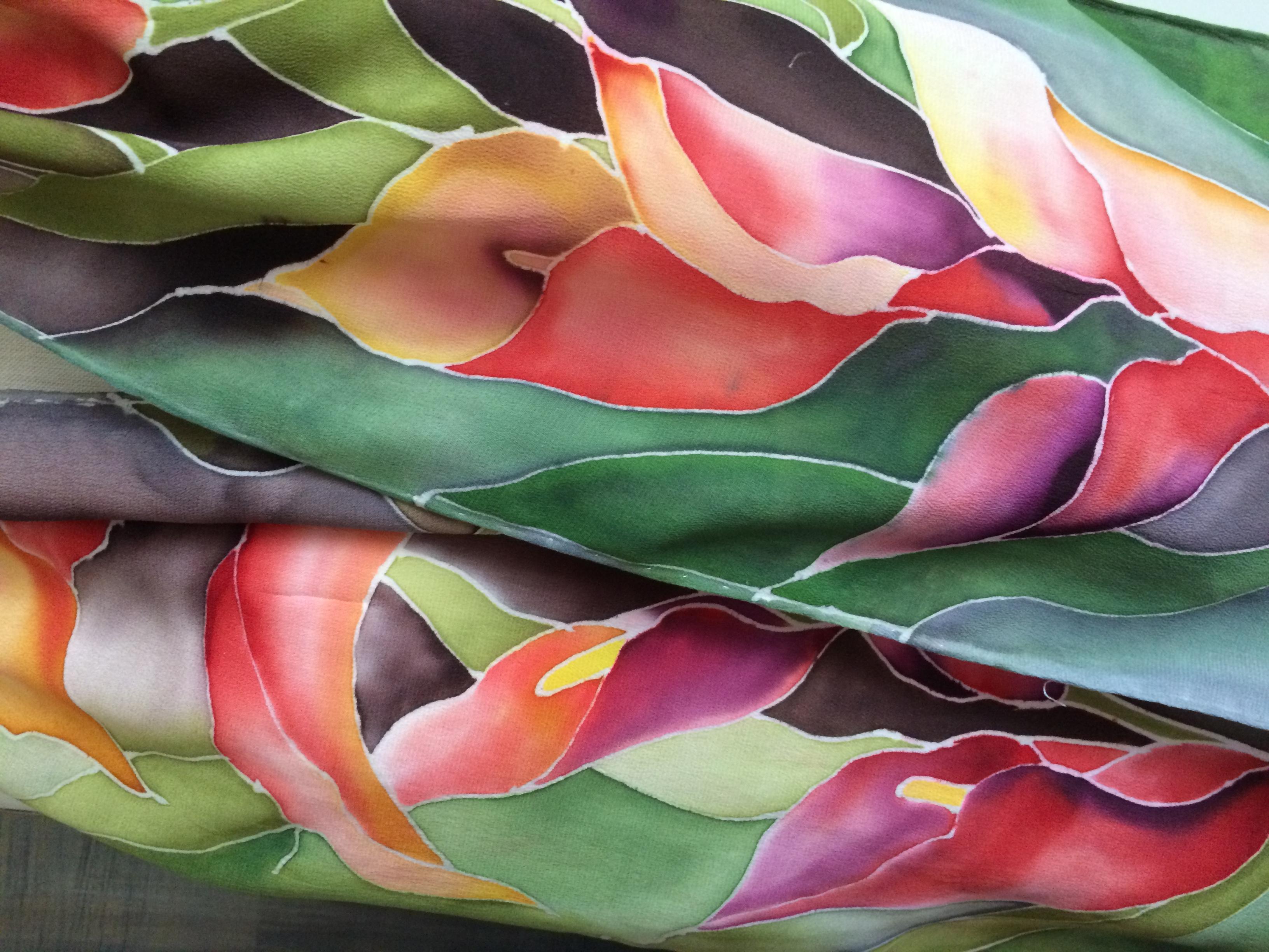 Calla Lillies Silk Scarf