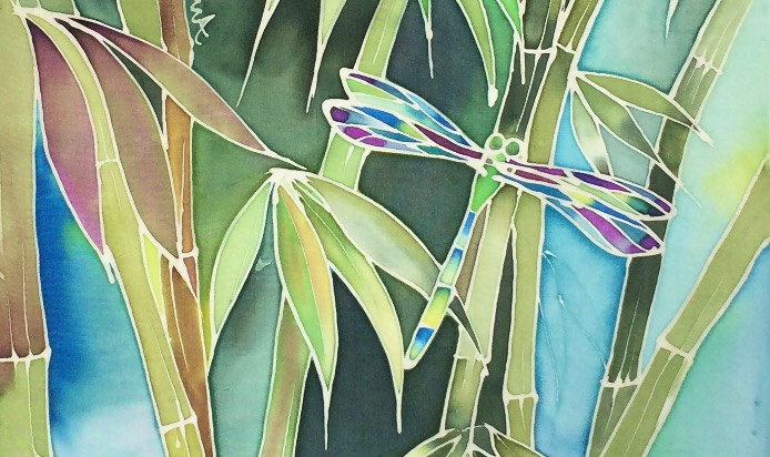 Bamboo and dragonfly