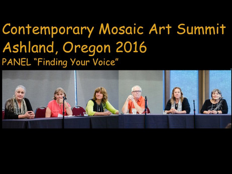 Dee Speaks at Contemporary Mosaic Art Summit