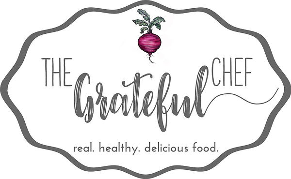 the grateful chef logo grey with beet.jp