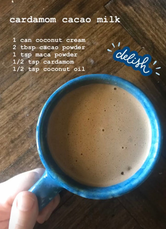 Hot Cardamom Cacao Milk