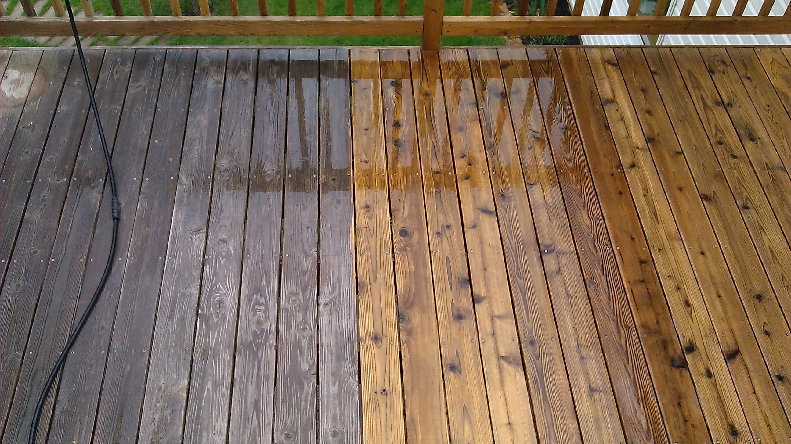 Wood Deck - Before & After