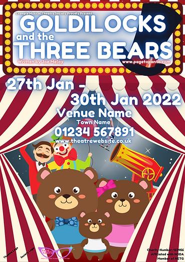 Goldilocks and the Three Bears; BLANK.pn