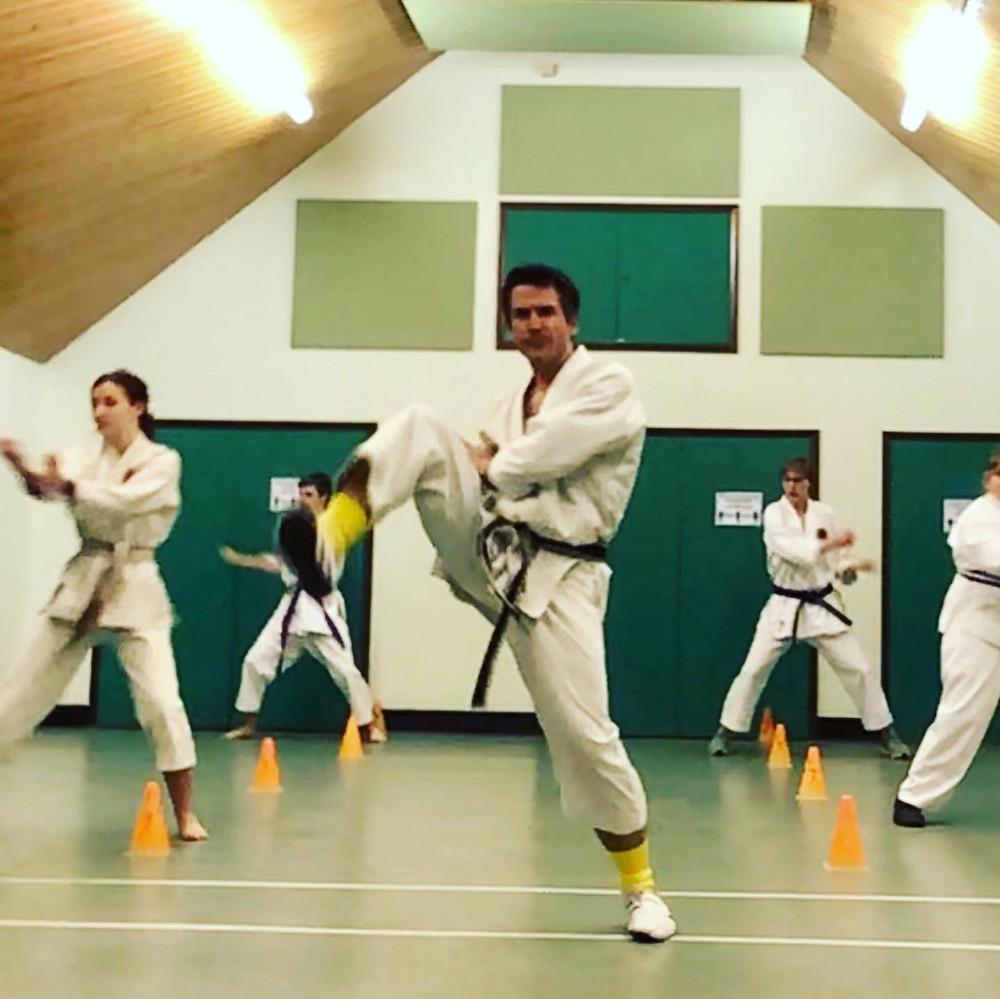 Teenagers at Petersfield Karate