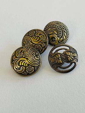 Metallknapp, bronse