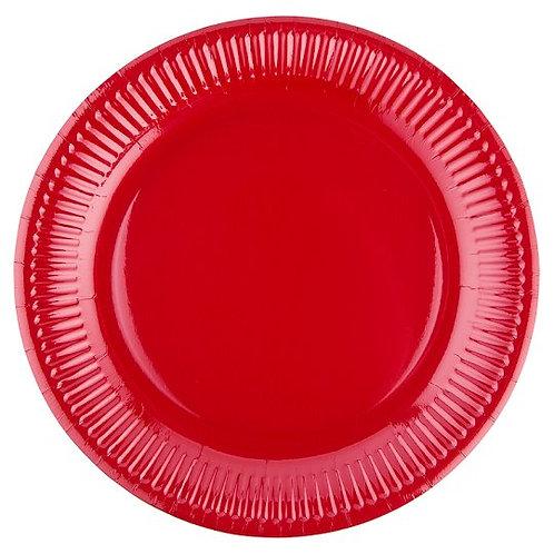 Prato de Servir Vermelho Metalizado