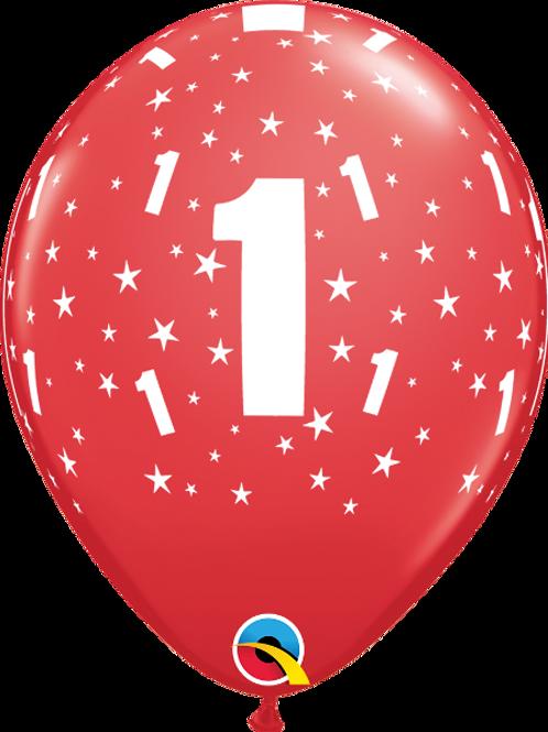 Balão Látex Nº1 Bordô
