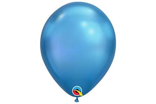 Balão Látex Chrome Azul