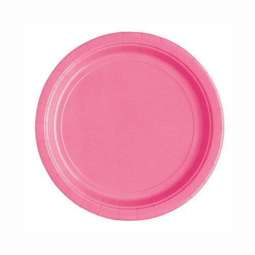 20 Pratos Rosa Escuro