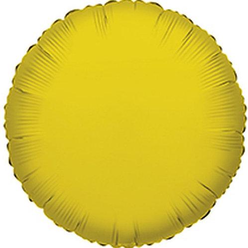 Balão Foil Redondo Dourado