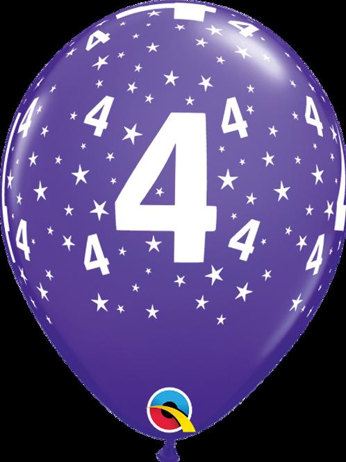 Balão Látex Nº 4 Roxo