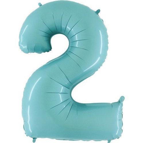 Balão Nº 2 Azul Claro
