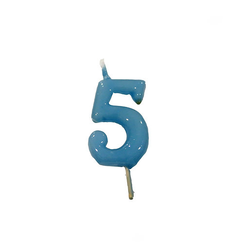 Vela Artesanal N.º5 Azul