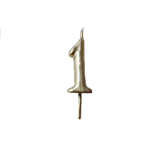 Vela Artesanal N.º1 Dourado