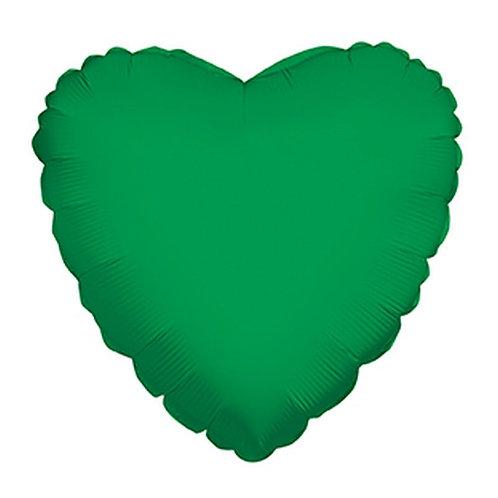 Balão Foil Coração Verde Médio