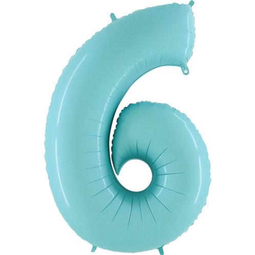 Balão Nº6 Azul Claro