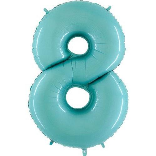Balão Nº8 Azul Claro
