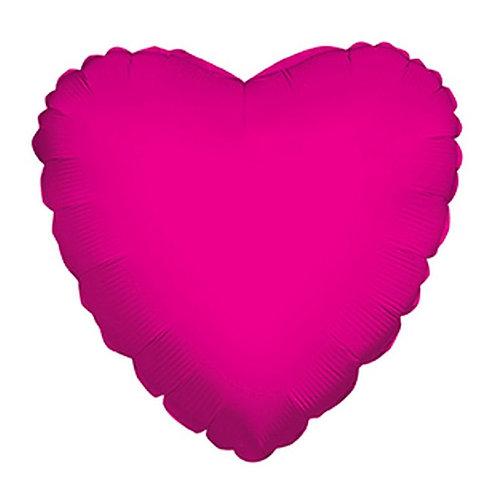 Balão Foil Coração Fúscia